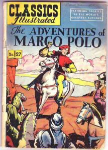 Classics Illustrated #27 (Apr-50) GD- Affordable-Grade Marco Polo