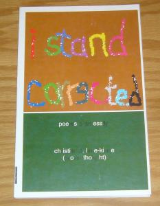 I Stand Corrected #1 VF/NM poems & essay by christian a. lane-kinne 2001