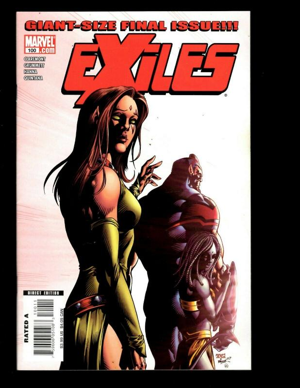 Lot Of 9 Exiles Marvel Comics 93 94 95 96 97 98 99 100 Days Of Then And Now EK10
