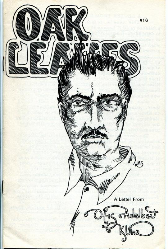 Oak Leaves #16 1982-fanzine-sci-fi pulp author Otis Adelbert Kline-FN