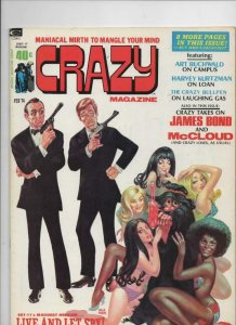 CRAZY #2 Magazine, FN/VF, Neal Adams, 1973 1974, James Bond, more in store