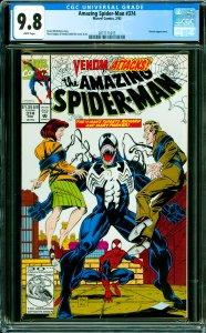 Amazing Spider-Man #374 CGC Graded 9.8 Venom appearance.