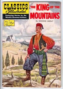 Classics Illustrated #127 (May-55) VG/FN+ Mid-Grade The King of the Moutaint Men