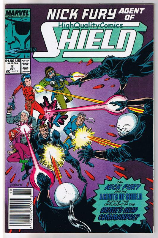 NICK FURY Agend of SHIELD #2, NM+, Eyepatch, Cigar, 1989, more in store