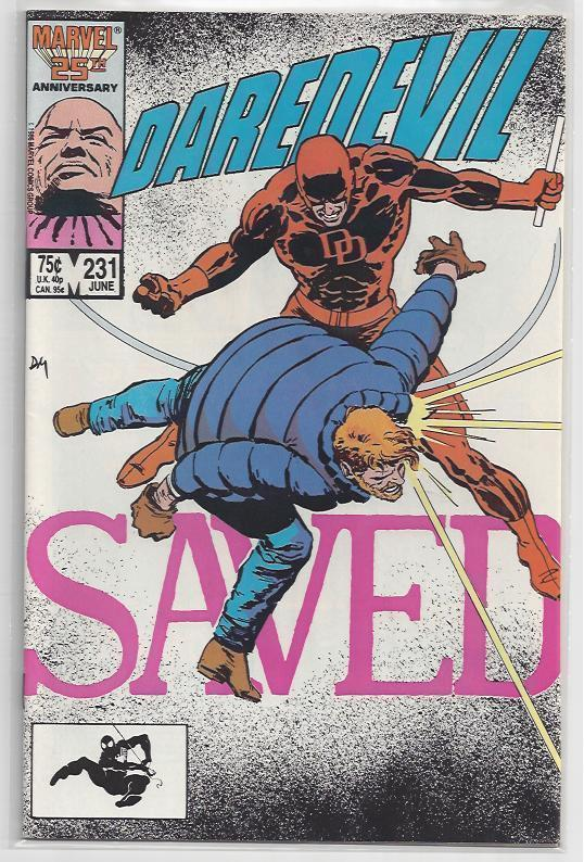 Daredevil #231 Issue with Old School Frank Miller Autograph