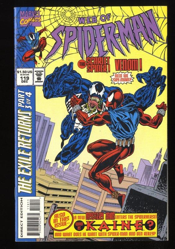 Web of Spider-Man #119 VF 8.0 Carnage Scarlet Spider 1st Kaine!