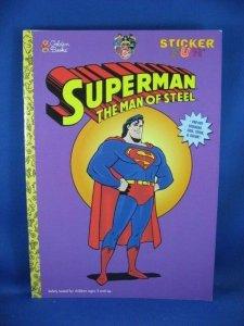 SUPERMAN STICKER FUN FILE COPY UNUSED