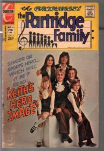 Partridge Family #16 1973-Charlton-David Cassiady-Shirley Jones-G/VG