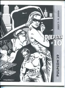 Pulpster #10 2000-program book for Pulpcon #29-loaded with pulp info-VF