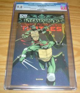 Infestation 2: Teenage Mutant Ninja Turtles 1 CGC 9.8 retailer incentive variant