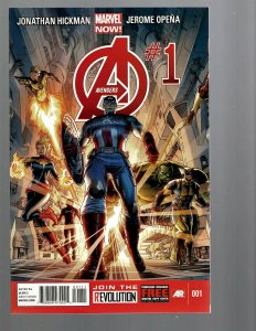 12 Marvel Comics Avengers #1 2 3 4 5 6 7 8 9 10 11 12 J446