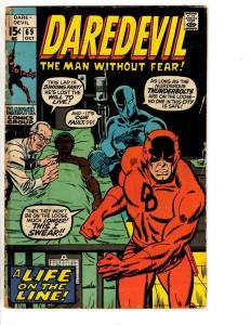 Lot Of 4 Daredevil Marvel Comic Books # 69 70 71 72 VG Range Foggy Karen RH2