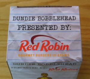 Dundie Bobblehead CIB - complete in box - red robin  Scranton The Office Night