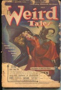 Weird Tales 7/1942-HP Lovecraft-Margaret Brundage-Seabury Quinn-FR