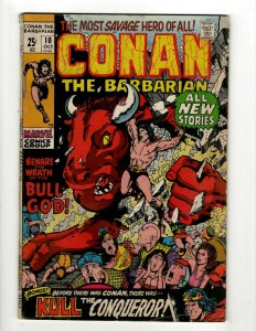 Conan The Barbarian # 10 FN Marvel Comic Book Barry Smith Kull King Sword NP16