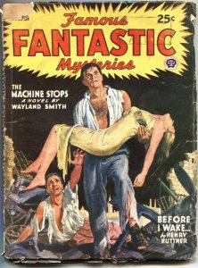 FAMOUS FANTASTIC MYSTERIES-MARCH 1945--DOOMSDAY TERROR COVER-PULP