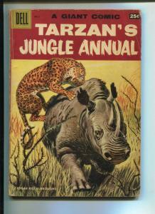 TARZAN'S JUNGLE ANNUAL #6 1957-DELL-EDGAR RICE BURROUGHS-VG