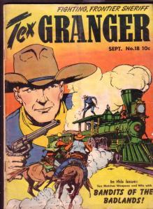 TEX GRANGER #18 FIRST ISSUE ORIGIN 1948 RAILROAD COVER VG