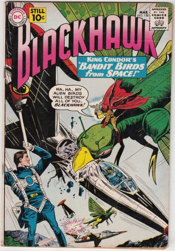 Blackhawk #158 (Mar-61) FN High-Grade Black Hawk, Chop Chop, Olaf, Pierre,Chu...