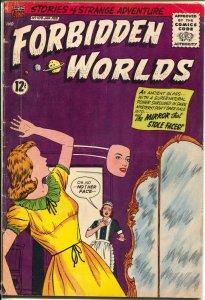 Forbidden Worlds #109 1962-ACG-horror cover-dinosaur story-VG