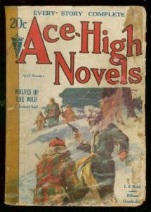 ACE-HIGH NOVELS APRIL 1932-WILD PULP STORIES-1ST ISSUE G