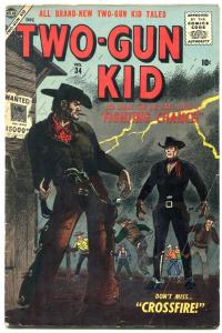 TWO-GUN KID #34 1956-ATLAS COMICS-GUNFIGHT COVER-  RARE very good