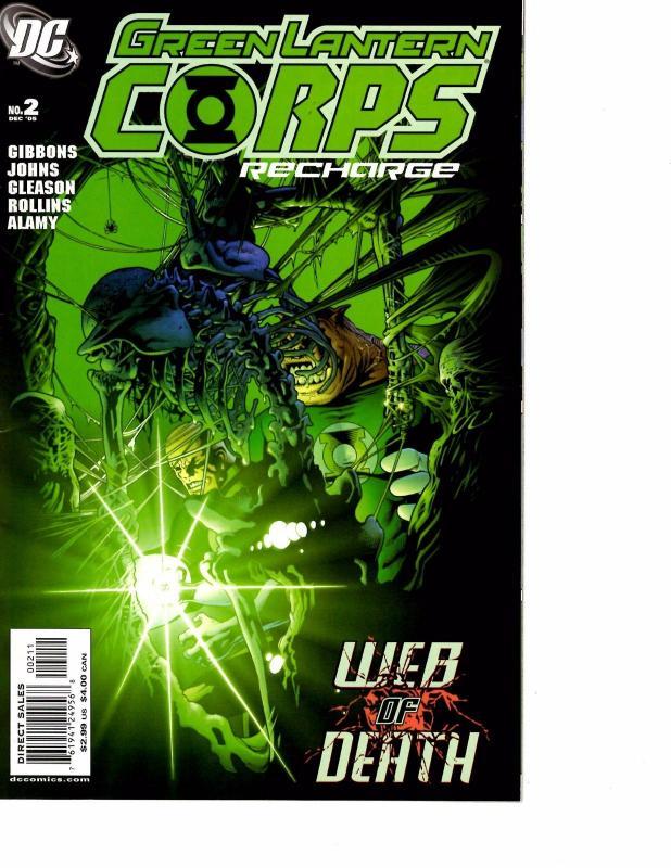 lot of 5 green lantern corps recharge dc comic book 1 2 3 4 5 ks6