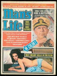MAN'S LIFE PUKLP MAY 1964-MELODY BELLO-SAUCY PICS-WW II FN