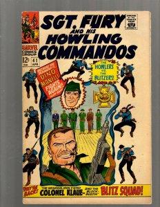 Sgt. Fury & His Howling Commandos # 41 FN Marvel Comic Book Nick Avengers J450