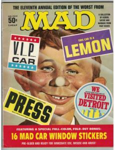 WORST FROM MAD (1968) 11 VG with CAR WINDOW STICKERS