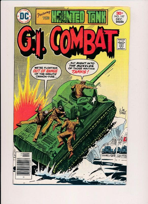 G.I. COMBAT & The Haunted Tank #197 ~ DC Comics 1976 ~ FN/VF (HX484)