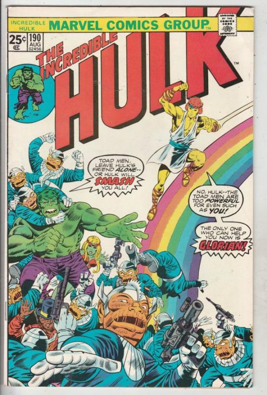 Incredible Hulk #190 (Aug-75) VF+ High-Grade Hulk