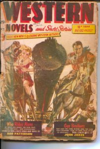 Western Novels and Short Stories 10/1952-Stadium-Norman Saunders- John Jakes-...