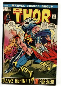 THOR #201 1972 MARVEL Bronze-Age EGO PRIME comic book