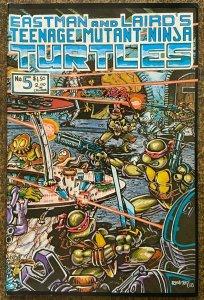 TEENAGE MUTANT NINJA TURTLES #5 (Mirage,11/1985) FINE PLUS!