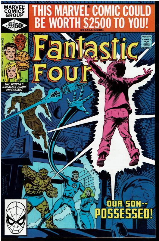 Fantastic Four #222, 8.0 or Better - Gabriel the Devil Hunter App.