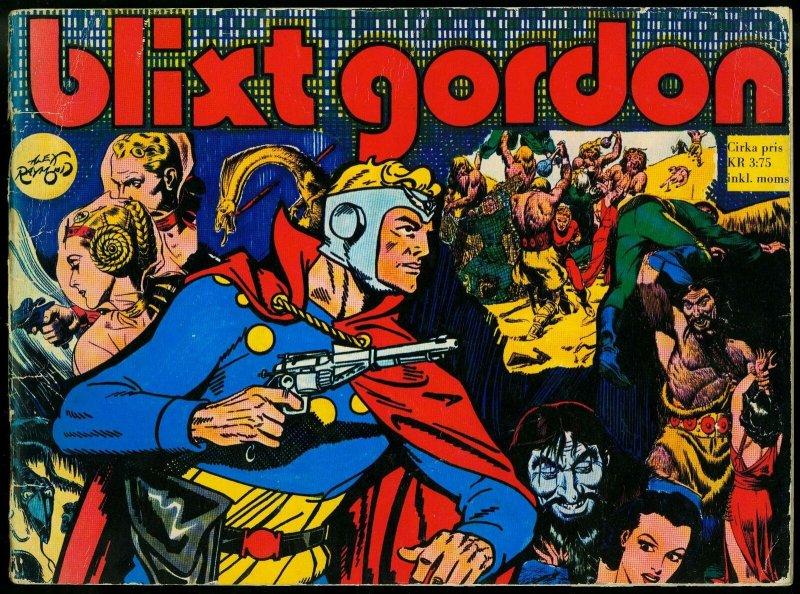 Blixt Gordon - Flash Gordon Swedish reprints- Alex Raymond VG