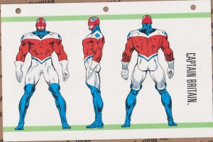 Official Handbook of the Marvel Universe Sheet- Captain Britain