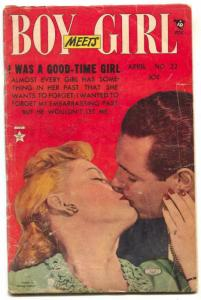 Boy Meets Girl #22 1952- I Was A Good Time Girl G/VG