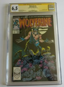Wolverine #1 CGC 6.5 Signature Series Signed By Chris Claremont Marvel Comics SS