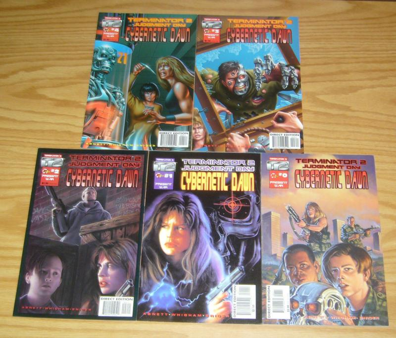 Terminator 2: Judgment Day - Cybernetic Dawn #0 & 1-4 VF/NM complete series 2 3