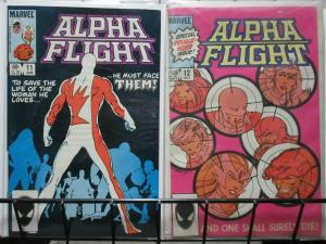 ALPHA FLIGHT (1983-1994) 11-12  DOUBLE SIZE; DEATH