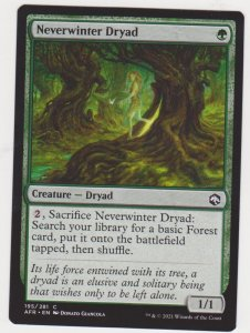 Magic the Gathering: Adventures in the Forgotten Realms - Neverwinter Dryad