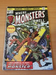Where Monsters Dwell #32 ~ VERY GOOD VG ~ 1974 MARVEL COMICS
