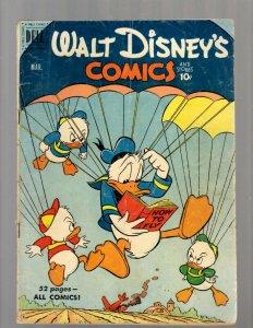 Walt Disney's Comics & Stories # 126 VG Dell Golden Age Comic Book Mickey JK7