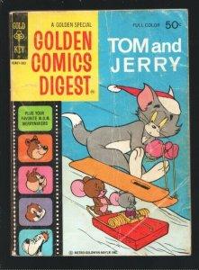 Golden Comics Digest #28 1973- Tom & Jerry-Spine & Tyke-Prof. Putter robot st...