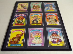Garbage Pail Kids Framed 16x20 Display Warrin Warren Mouth Phil Dana Druff