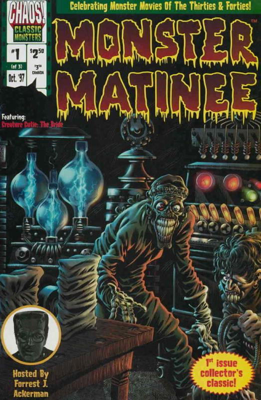 Monster Matinee #1 VF/NM; Chaos | save on shipping - details inside