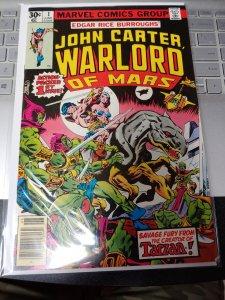 John Carter Warlord of Mars #1 Marvel Comics 1977 Bronze