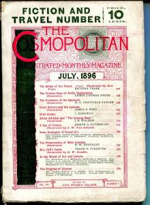 Cosmopolitan 7/1896-early pulp format magazine-fiction issue-VG